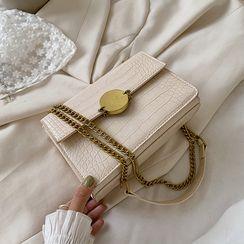 Kunado - Flap Croc Grain Crossbody Bag