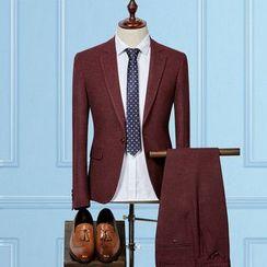 Blueforce - Set: Plain Blazer + Dress Pants