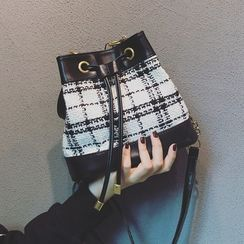Mercillia - Plaid Bucket Bag