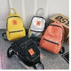 Mulgam - Applique Faux Leather Backpack