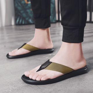 MARTUCCI - Faux Leather Flip-Flops