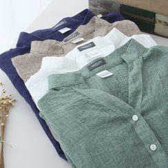 TROBIZ - Stand-Collar Blouse
