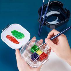 拙木紙品 - 可折疊洗筆桶連調色盒