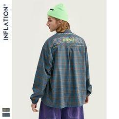 Newin - Elastic-Cuff Plaid Shirt