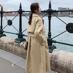 Hassel - Long Double-Breasted Trench Coat