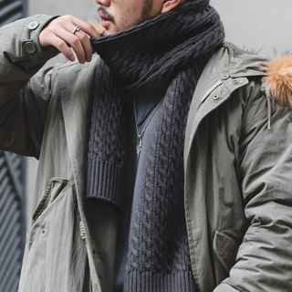 Maden - Cable Knit Scarf