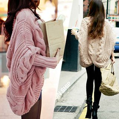 Hibisco - Batwing Cable-Knit Cardigan