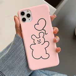 Aion - 气球小熊11Pro/Max苹果X/XS/XR适用手机壳iPhone7p/8plus磨砂硬壳