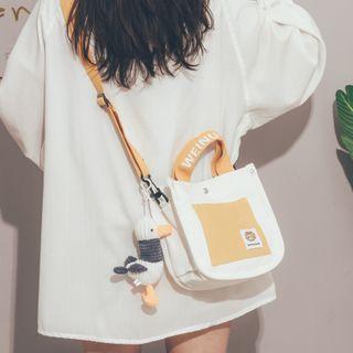 Felicity - Two-Tone Canvas Crossbody Bag