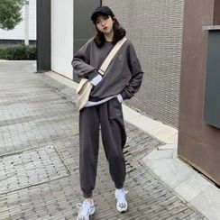 Kolopara - Set: Plain Sweatshirt + Sweatpants
