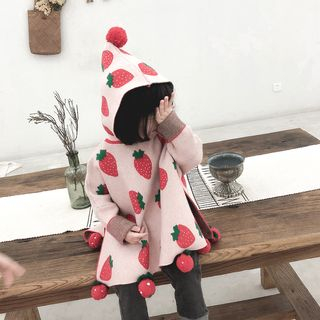 Cen2ury - Baby Strawberry Print Hooded Sweater
