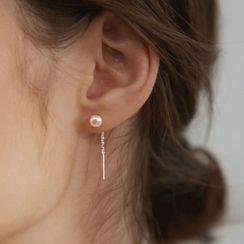 FOON - Freshwater Pearl 925 Sterling Silver Drop Earring