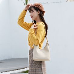 Annmuu - Faux Leather Bucket Bag