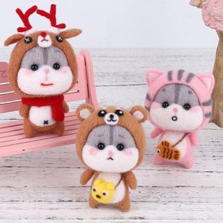 candycross - Animal Doll Needle Felting DIY Kit