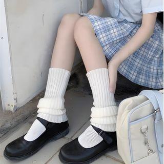 Pouffle - 羅紋針織暖腿套