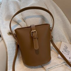 Road to Love - Faux Leather Bucket Bag