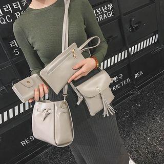 Beloved Bags - 四件套:水桶包 + 流蘇斜挎包 + 卡套 + 腕帶包
