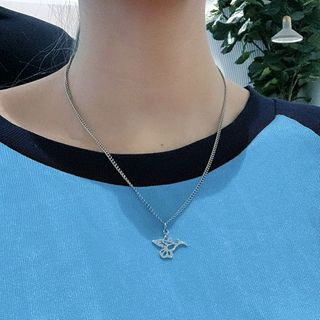 PANGU - 不锈钢小鸟吊坠项链