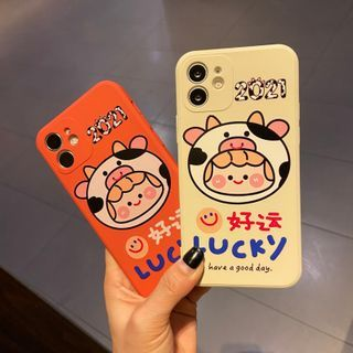 Huella - LUCKY Cartoon Phone Case For iPhone SE / 7 / 7 Plus / 8 / 8 Plus / X / XS / XR / XS Max / 11 / 11 Pro / 12 Mini / 12 / 12 Pro / 12 Pro Max