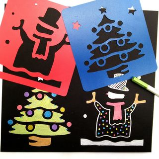 Tivi Boutique - Christmas Drawing Stencil