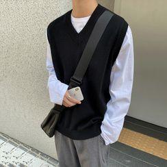 匡亿 - V领针织马甲