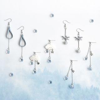 Bastil - Faux Crystal Drop Earring (Various Designs)
