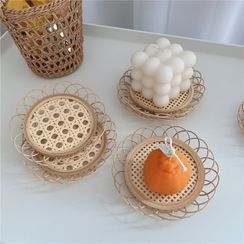 Oknana Home - Straw Woven Tray Photography Props