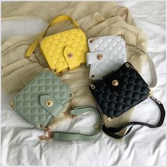 Perlin - Chain Strap Quilted Crossbody Bag