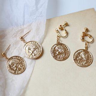 Cometto - Coin Drop Earrings/ Clip-On Earrings