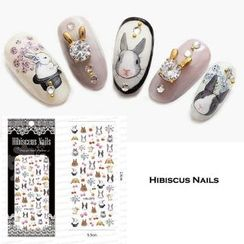 Ketmie - Rabbit Temporary Nail Tattoo
