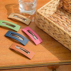 UUZONE - Matte Colored Rectangle Hair Pin