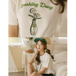 GOROKE - Round-Neck Printed T-Shirt