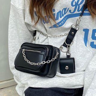 Barba - Chain Zip Crossbody Bag