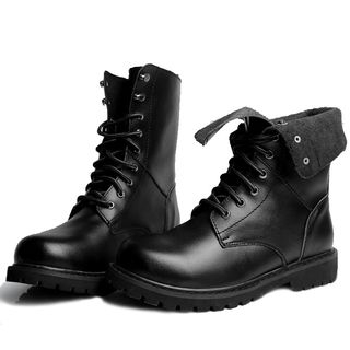 WeWolf - Genuine Leather Lace-Up Short Boots