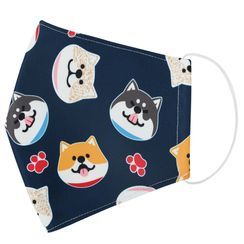 Miumi - Handmade Water-Repellent Fabric Mask Cover (Shiba Print)(Adult)