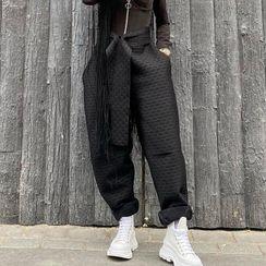 BrickBlack - 腰結帶哈倫褲