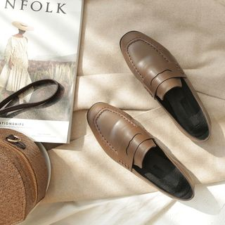 TAKEMEHOME - Faux Leather Loafers