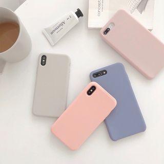 Handy Pie - 纯色矽胶手机壳 - iPhone XS Max / XS / XR / X / 8 / 8 Plus / 7 / 7 Plus / 6s / 6s Plus