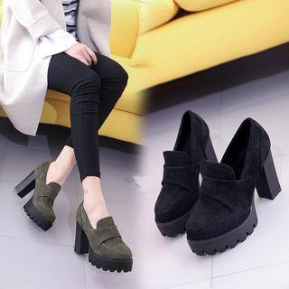 Weiya - 厚底粗跟樂福鞋