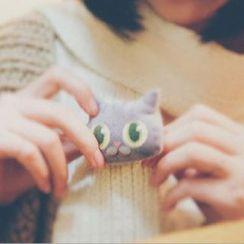 Milena - 3D猫胸针 / 套装