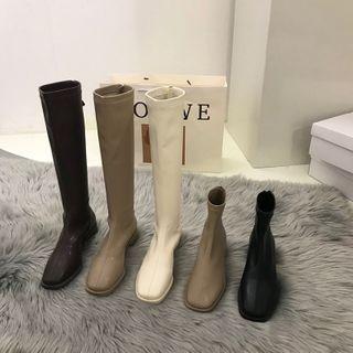 Hipsole - Block Heel Short Boots / Knee-High Boots