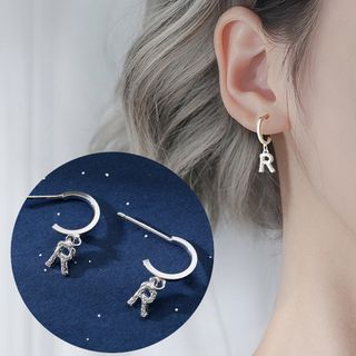 Zilverzmith - 925 Sterling Silver Alphabet Drop Earring