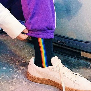 ASAIDA - Rainbow Trim Socks
