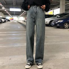 Secolo - Washed Wide Leg Jeans