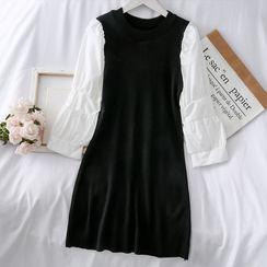 Lemongrass - Patchwork Colorblock Knit Dress