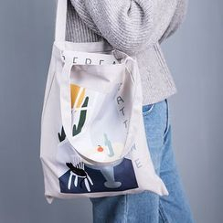 Cutie Pie - Printed Canvas Shopper Bag