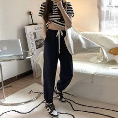 CaraMelody - 短袖條紋T裇 / 運動褲