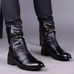 Goldtrench Shoes(ゴールドトレンチシューズ) - Zip Mid Calf Boots