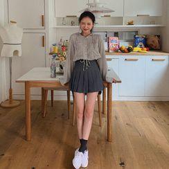 MERONGSHOP - Inset Shorts Stitched Mini Tennis Skirt