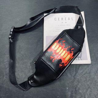ETONWEAG - Faux Leather Statement Print Belt Bag
